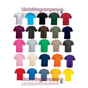 Fruit-Of-The-Loom-Valueweight-T-Shirt-Men-039-s-tops-S-M-L-XL-2XL-3XL-4XL-5XL