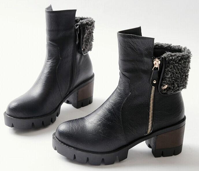 Stivaletti stivali donna tacco alto cm 6.5 6.5 6.5 nero  caldi comodi simil pelle 9013 | Stili diversi  | Sig/Sig Ra Scarpa  660ab6