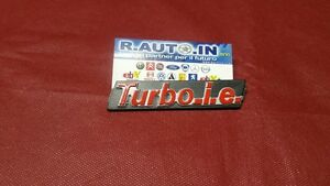FIAT-UNO-TURBO-I-E-TARGHETTA-GRIGLIA-FRONT-BADGE-EMBLEM-FRONT-GRILL-034-TURBO-IE-034