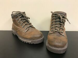 Mens Size 9 Distressed Brown Leather