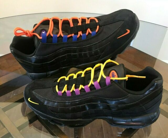 Famous Brand Nike Air Max 95 270 Black White Orange Men's Running Shoes Sneakers NIKE012292