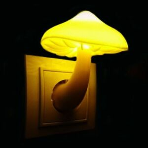 Mushroom Wall Socket Light Sensor Kids Bedroom Night Lamp Decor Home Decoration Ebay