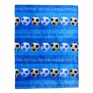 Bleu-Football-Polaire-Couverture-Chambre-Enfants