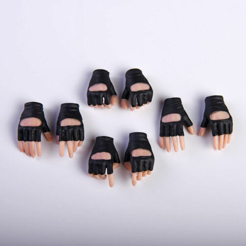 VStoys 1//6 Pale Skin Gloves Hand Type Female Hand Model 4pairs