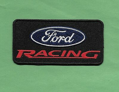 """New Ford Racing 'Black'  2  X  4"""" Inch  Iron on patch Free Shipping"""