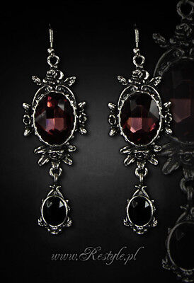 Restyle Ohrringe GROß 3D Pentagramm Gothic Occult Hexe Earrings Steampunk Witch