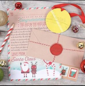 Letter to santa kit christmas children post nice list stickers kids image is loading letter to santa kit christmas children post nice spiritdancerdesigns Gallery