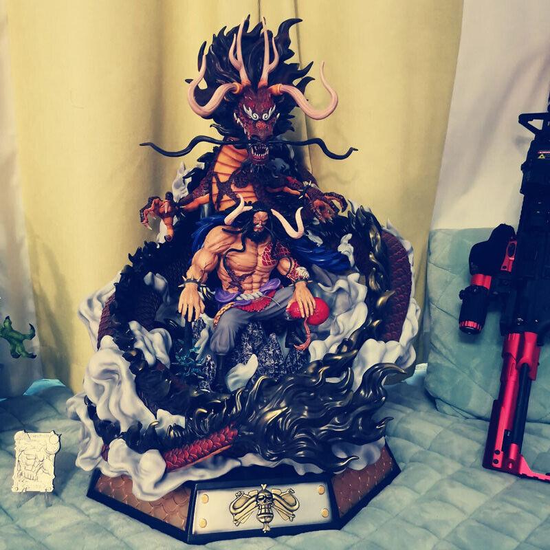 Estatuilla de una sola pieza pieza pieza Kaido modelo GK Pintado lava Studio Dragon Estatua En Stock Nuevo  ventas directas de fábrica