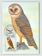 S. TOME MK 1983 VÖGEL SCHLEIEREULE EULE OWL BIRDS CARTE MAXIMUM CARD MC CM /m302