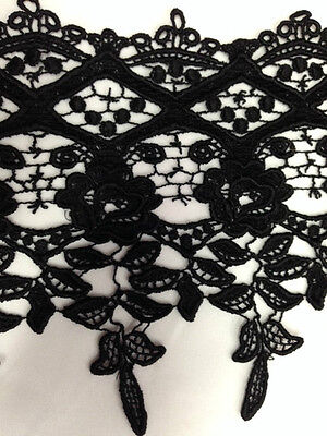 "8"" inch Wide Trim, Reverse Scalloped, Flower Lace Trim,1 Yards"