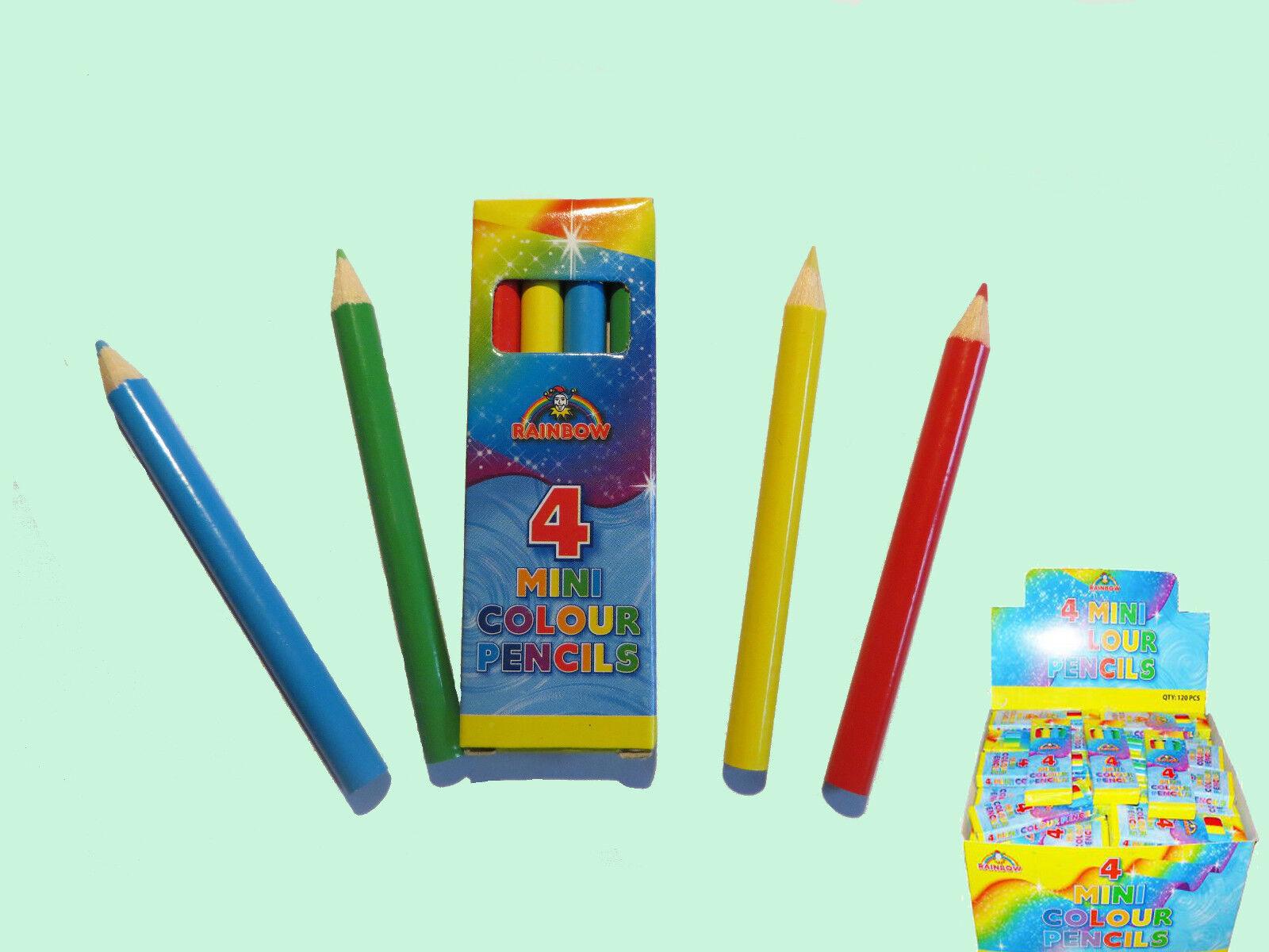 120 X 4 Mini Lápices Lápices Lápices De Colors-Kids party loot Bolsa 07c9c1