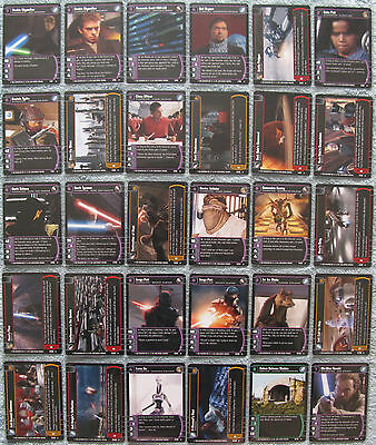 Star Wars TCG Attack of the Clones Rare Cards Part 1/2 (AOTC)