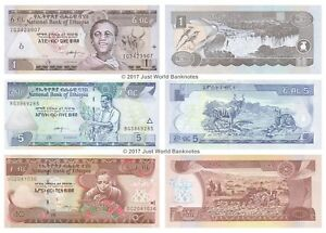 Ethiopia-1-5-10-Birr-Set-of-3-Banknotes-3-PCS-UNC