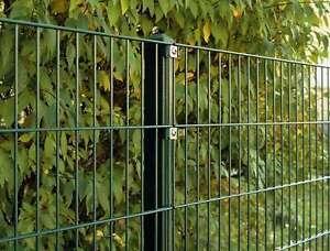 10 Mètres Doppelstab Mattenzaun Moosgrün/hauteur 123cm/metallzaun Porte Clôture Jardin-afficher Le Titre D'origine Dans Beaucoup De Styles