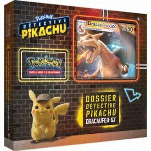 Pokemon Detective Pikachu Coffret Dracaufeu GX 6 boosters Carte Promo neuf FR