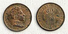ALFONSO XIII. 1 Centimo 1906. Madrid S.L.V. SC-/UNC-. Parte del color original.