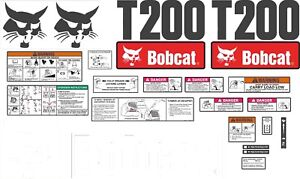 Bobcat T200 Decal Kit with controls The most complete aftermarket kit available