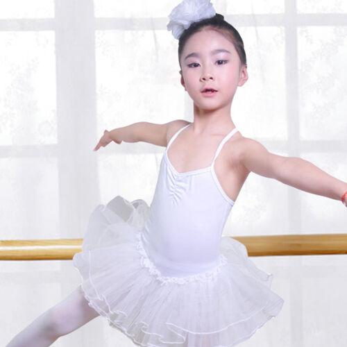 Girls Leotard Dress Gymnastic Tutu Outfit Dancewear Fancy Ballet Dance Costumes