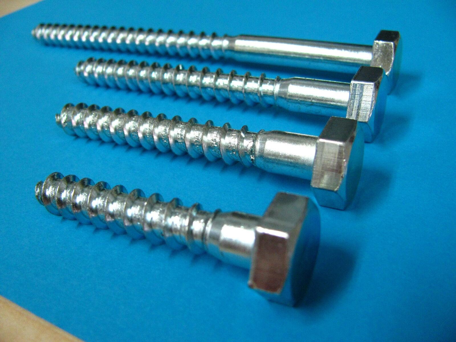 10mm Schlüsselschrauben Schlüsselschraube 10 Din 571 Sechskantholzschrauben   | Vogue
