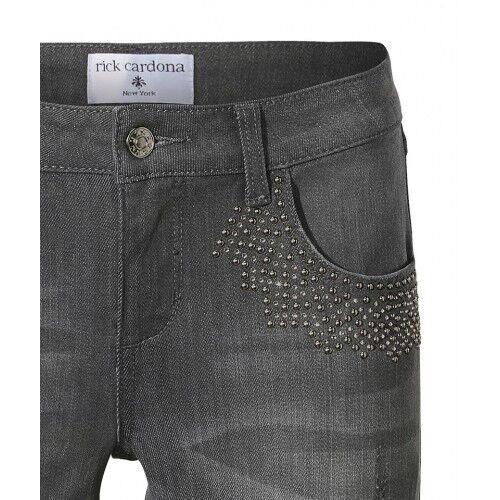36-44 Schmal 116659 Hellgrau NEU Stretch Skinny Rick Cardona Jeans Damen Gr