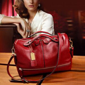 Women-Leather-Handbag-Shoulder-Purse-Pilliow-Shape-Satchel-Crossbody-Tote-Bag-US