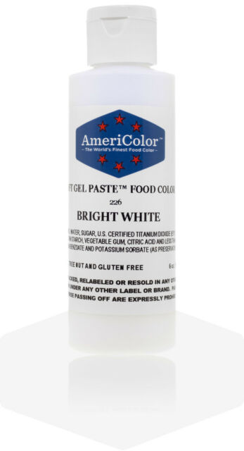 Color Bright White Soft GEL Paste Food AmeriColor 6 Ounce 1 Coloring ...