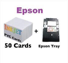 Inkjet PVC ID Card Starter Kit - Epson P50,T50,L800,T60,   PVC Cards & Card Tray