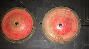 """VERY COOL!! - 2 --- 6"""" OLD VINTAGE CART WAGON WHEEL"""