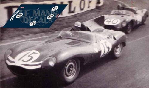 Calcas Jaguar D Type Le Mans 1957 1:32 1:43 1:24 1:18 decals