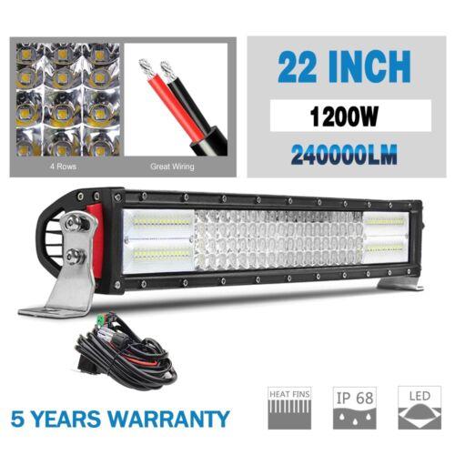 "10D 22/"" 1200W 4 ROW CREE LED WORK LIGHT BAR SPOT FLOOD COMBO Ford VS 24/"" 23/"" 20/"""