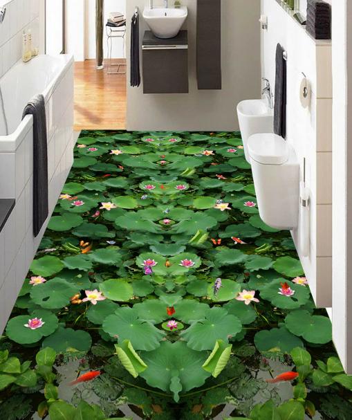 3D Grün Leaf Flowers 92 Floor WallPaper Murals Wall Print Decal AJ WALLPAPER US