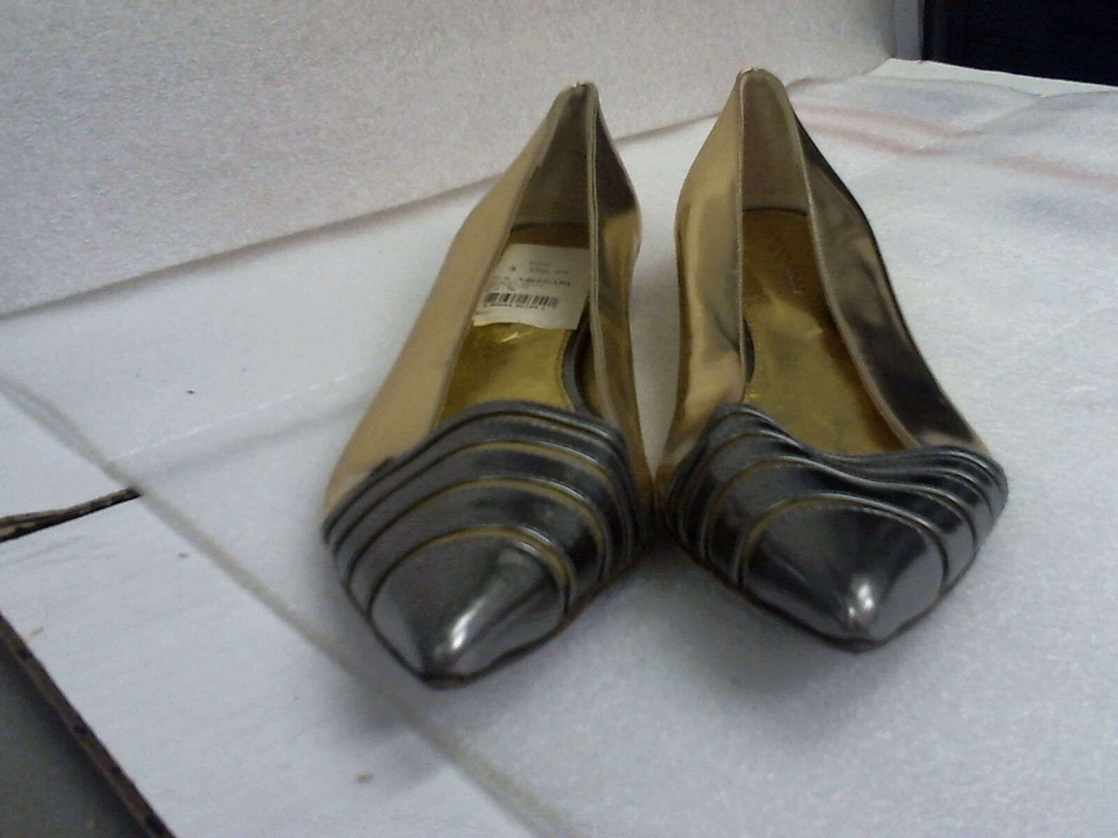 Pre-Owned Sergio Rossi Gold Ballet Ballerina Flats 10M