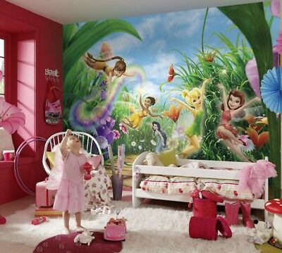 Vluchten Zoeken Wall Mural Photo Wallpaper Fairies In The Meadow For Bedroom Disney Tinker Bell