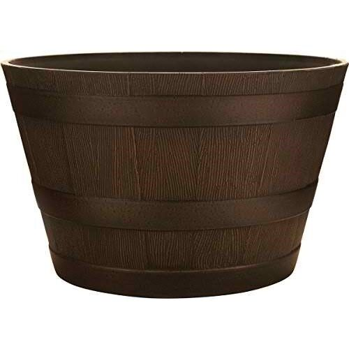 """SOUTHERN PATIO HDR-007197 Wine Barrel Planters 15/"""""""