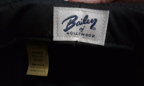 f1d5b88b9f2 2 of 4 Bailey Virgil Men s 100% Wool Center Dent Crown Fedora Hat Black  Made In USA