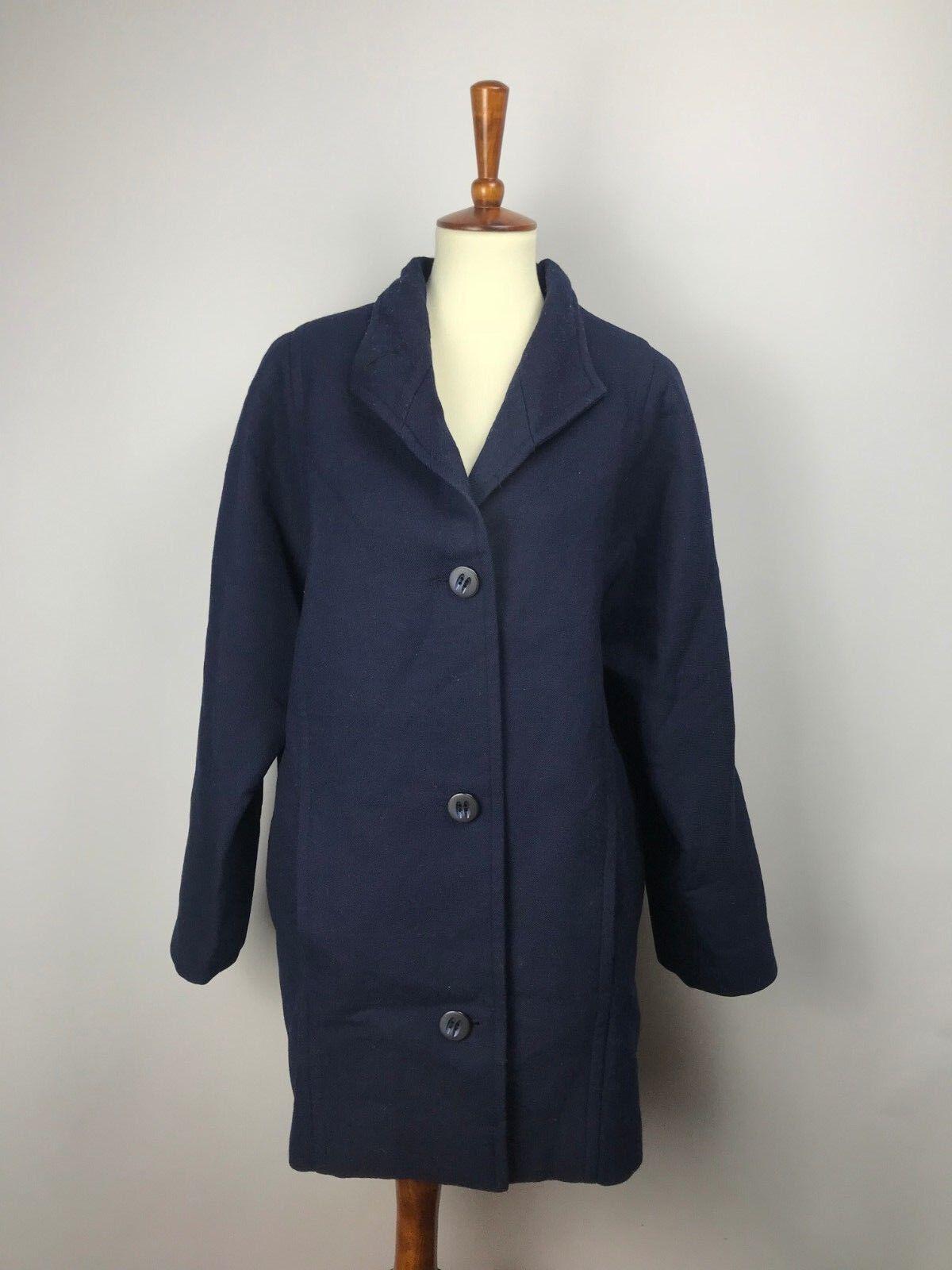 Nina Ricci Boutique Paris Wool bluee Coat 40 12 L Large France Luxury Rare