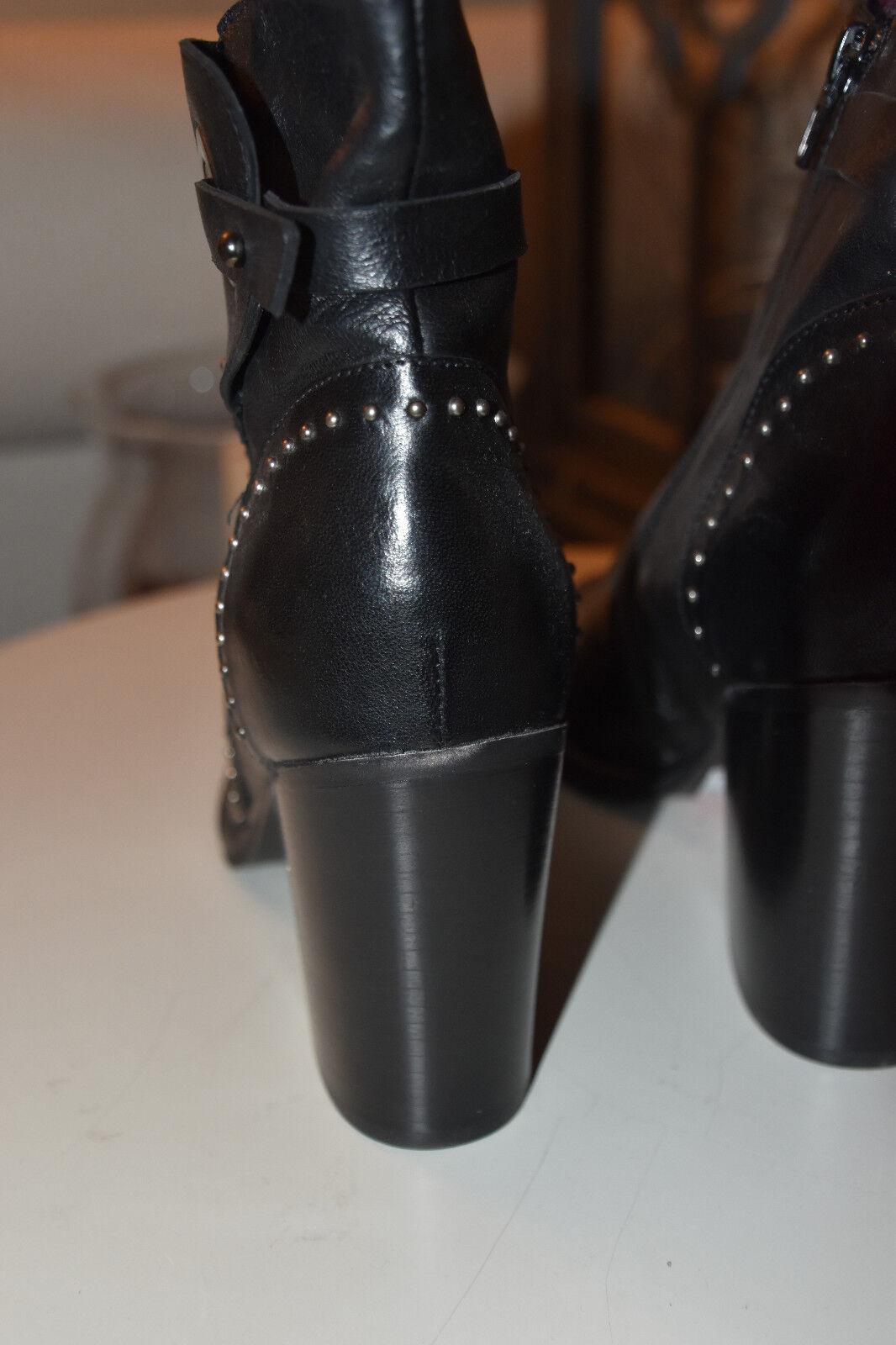 Kim Kay Scarpa London Scarpa Kay in Pelle Basse Scarpa STIVALETTI BORCHIE TG. 40 Nero Nuovo 950305