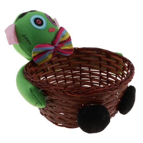 Candy Cookies Food Holder Rattan Basket Halloween Party Decor Storage Basket