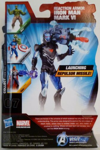"REACTRON ARMOR IRON MAN The Avengers Movie Concept Series 4/"" Figure #7 2012"