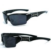 X-Loop Sunglasses Mens Sports Cycling Fishing Golf Wrap Around X45 - Black