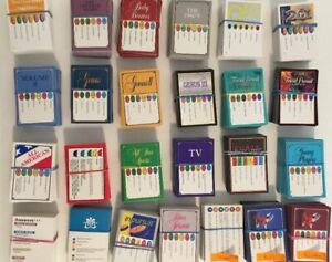 100-Random-Trivial-Pursuit-Replacement-or-Add-on-Cards-Choose-From-25-Editions