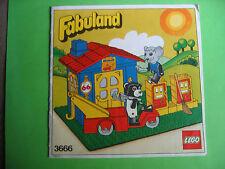 Lego Fabuland 3666 Werkstatti Bauanleitung und Bilderbuch, only Instructions