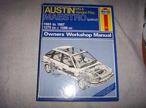 Haynes Workshop Manual Austin Maestro 1983-1987-afficher Le Titre D'origine Ddoroojm-07225435-793079889
