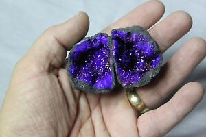 84g quartz crystal whole geode matching pair fairy cave purple coloured no 385 - <span itemprop=availableAtOrFrom>Shanklin, Isle of Wight, United Kingdom</span> - Returns accepted Most purchases from business sellers are protected by the Consumer Contract Regulations 2013 which give you the right to cancel the purchase within 14 day - Shanklin, Isle of Wight, United Kingdom