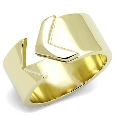 Women's Yellow Gold Plated Classy Fashion Ring No Stone 5 6 7 8 9 10 TK3120