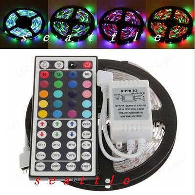 5M New 3528 SMD RGB Non waterproof 300 LED Light Strip + 44 Key Free IR Remote