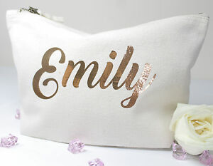 Personalised-Make-Up-Wash-Bag-ANY-Name-Mothers-Day-Gift-Present-Birthday