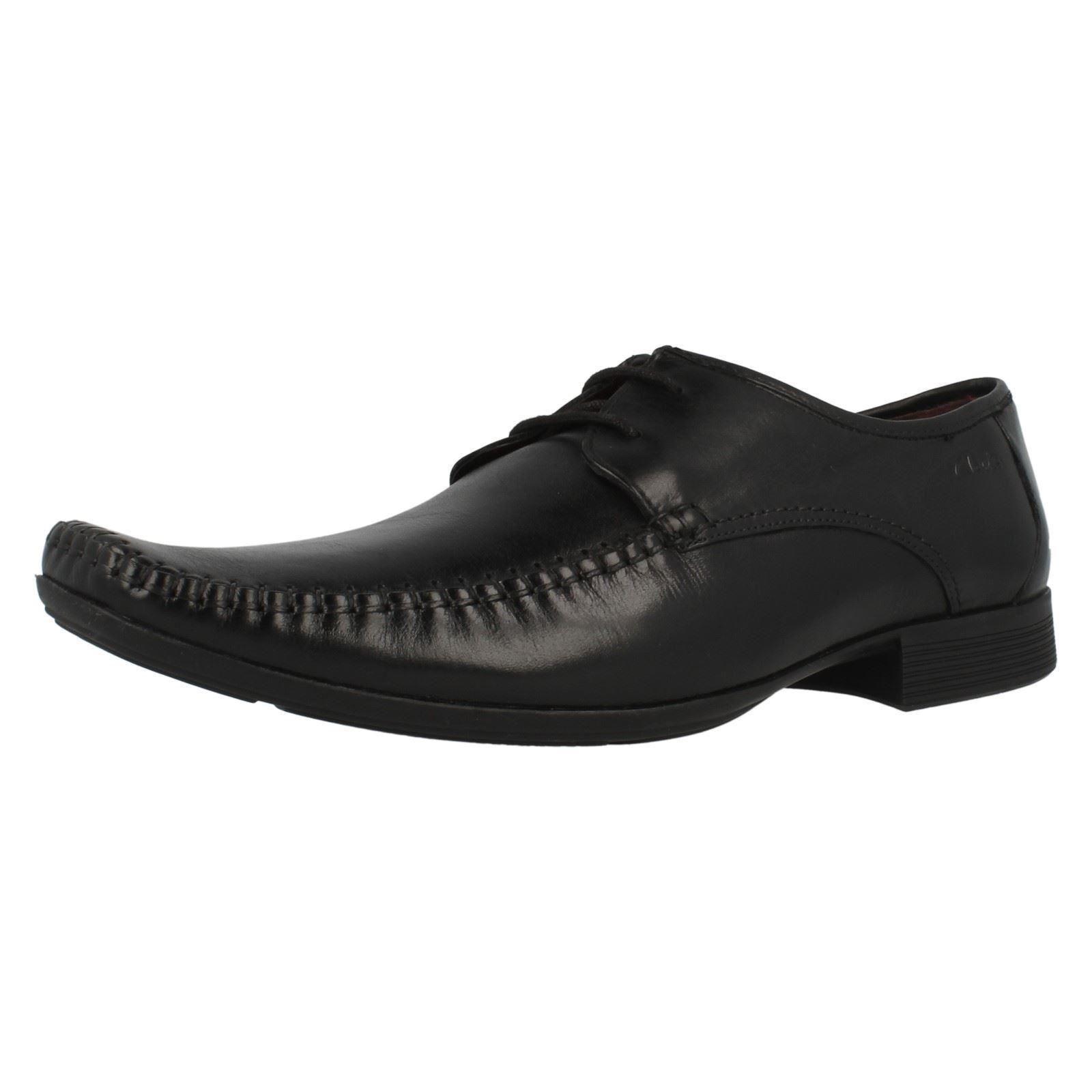 Ausverkauf Clarks' Ferro Spazier' Herren Schwarze Geschnürte Leder Derby Schuhe