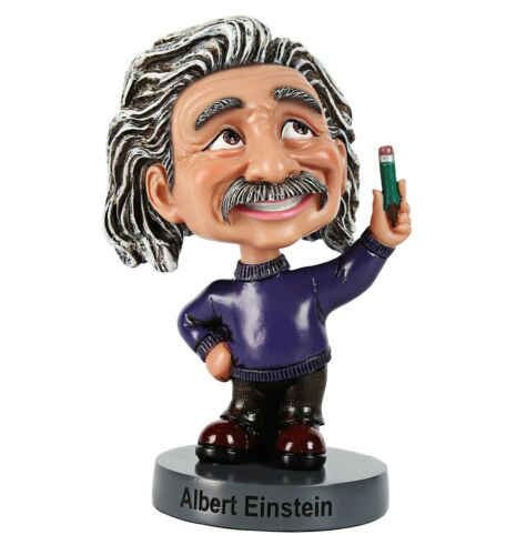 Albert Einstein Bobble Head Toy Action Figure Statue for Home Office decoration