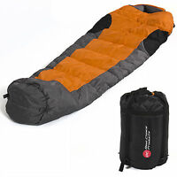 Mummy Sleeping Bag 5f/-15c Camping Hiking With Carrying Case Brand